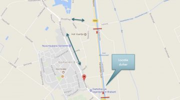 Tijdelijke afsluiting N266 bij Someren
