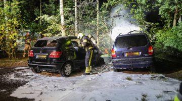 Twee auto's uitgebrand op camping Frerichsoord
