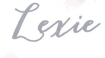Lexie is geboren