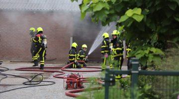 Brand in schuur aan Ellerweg in Stramproy