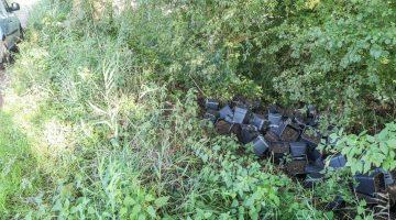 Hennepafval gedumpt in Nederweert-Eind