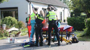 Twee gewonden na botsing tussen motor en fiets in Ell