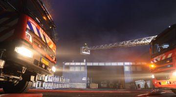 Brand bij kozijnenmaker Alhako in Stramproy
