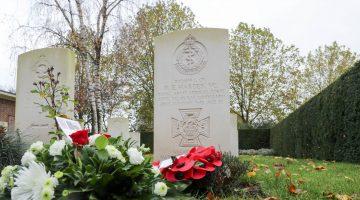 Dodenherdenking Britse Militaire begraafplaats Nederweert