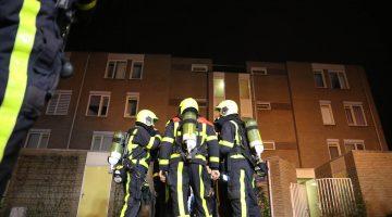 Explosie in trappenhuis van woonflat in de wijk Graswinkel