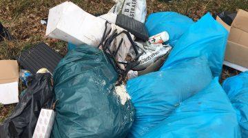 Hennepafval gedumpt in Ospeldijk