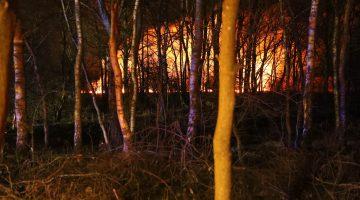 Brand in natuurgebied De Groote Peel