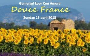 "Gemengde Zangvereniging Con Amore presenteert ""Douce France"" -"
