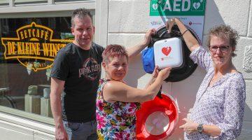 AED bij Eetcafé de Kleine Winst