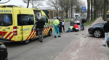 Twee gewonden bij aanrijding auto – scooter Weert