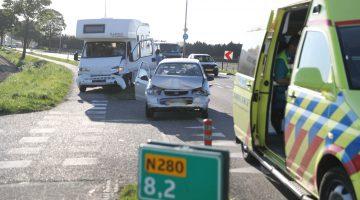 Ongeval N280, twee personen gewond