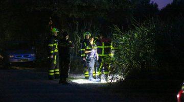 Vissers barbecueën, brandweer rukt uit