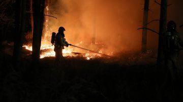 Natuurbrand naast AZC Budel