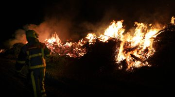 Brand aan de Kievitdijk Nederweert