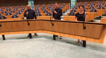 Gezin Tullemans op bezoek in het hart van de democratie
