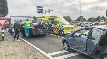 Auto's botsen op Randweg West Nederweert