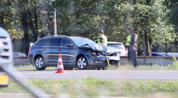 Ongeval A2 bij Nederweert, flinke file