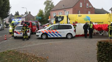 Ernstig ongeval Heythuysen, fietsster onder vrachtwagen