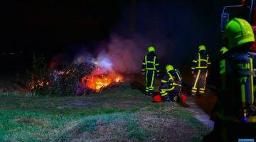 Snoeiafval in brand op Frenkenbaan Ospel