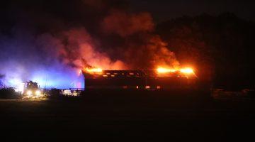 Brand in leegstaande stal