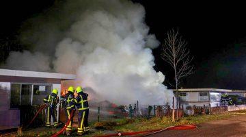 Chalet vliegt in brand op recreatiepark de Leistert in Roggel