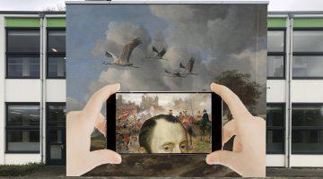 Leerlingen creëren murels over Graaf van Horne