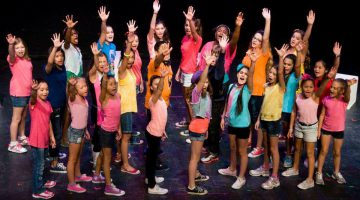 Musical lessen met show in de Pinnenhof