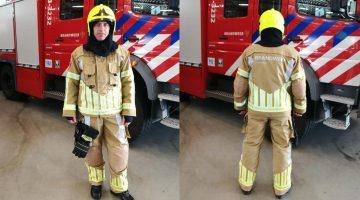 Nieuwe uitrukkleding voor brandweer, schoenen uit Ospel