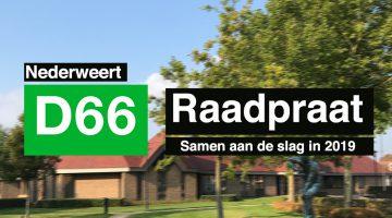 D66 Nederweert – Raadpraat