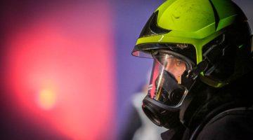 Grote brandweeroefening bij Kargro Recycling (Foto's)