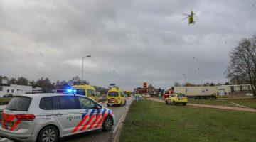 Voetganger in botsing met vrachtwagen