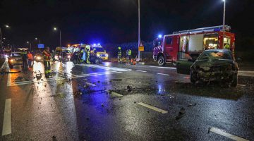 Beknelling bij ongeval Randweg Zuid Nederweert, meerdere gewonden