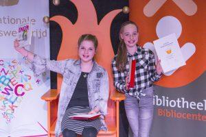 Voorleeskampioenen Bibliocenter Nina en Rose mogen naar de provinciale finale