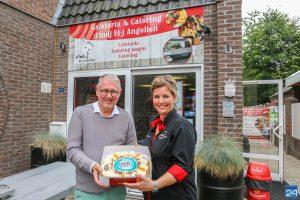 OVN-taart voor Cafetaria & Catering d'Indj Bi-j Angelien