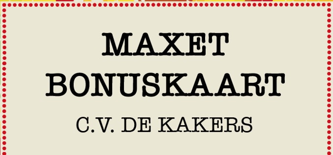Verkoop Maxet Bonuskaart in omgeving Heythuysen en Leveroy - Nederweert24 - Nederweert24