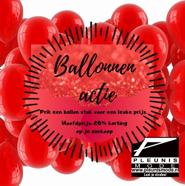 Ballonprikken bij Pleunis Mode Nederweert met kans op 20% korting - Nederweert24