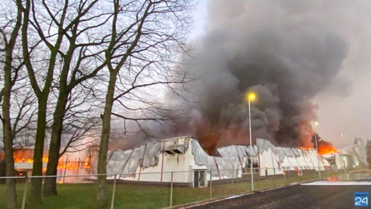 Zeer grote brand in Roermond