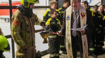Nieuwe brandweerkazerne Nederweert ingezegend door pastoor Koumans (Foto's + Video)