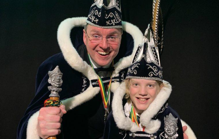 Prins Johan II en Jeugdprins Siem I van C.V. de Kakers