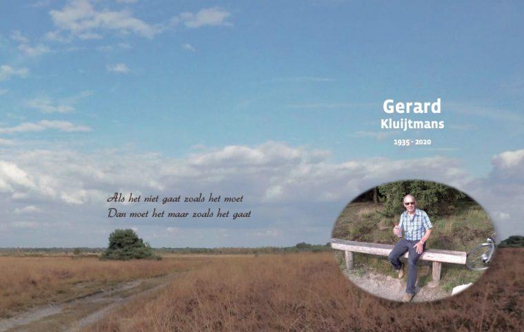 Overlijdensbericht: Gerard Kluijtmans