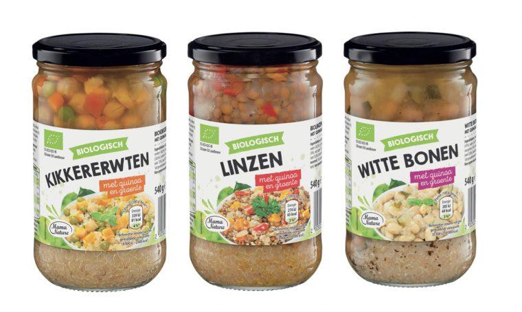 Mama Nature Biologische peulvruchten met quinoa en groente Aldi