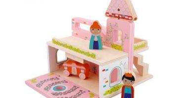 Veiligheidswaarschuwing Mini Matters draagbare houten speelset Action