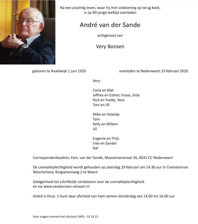 André van der Sande