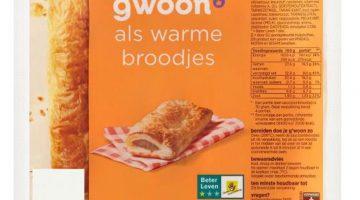 g'woon saucijzenbroodjes (allergenen)