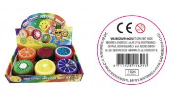 Belangrijke veiligheidswaarschuwing fruit slime D&F BV