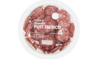 Veiligheidswaarschuwing AH tapas Spaanse Fuet Iberico