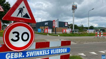 Randweg West Nederweert gaat maandag deels dicht voor aansluiting KFC
