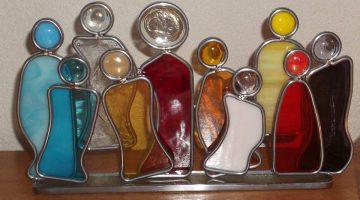 Workshop glas in randlood bij Pipowagen Camping Puur Genieten