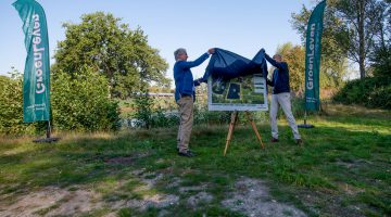 Zonnedak boven bergbezinkbassin Weert geopend