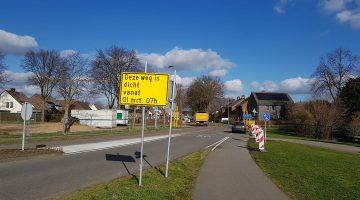 Verbinding Molenweg - Randweg West in Nederweert afgesloten